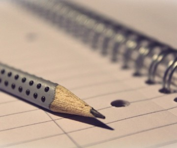 potlood en notebook